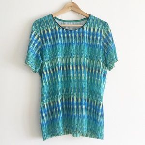 Alia T-shirt Shades of Blue and Green Size Large